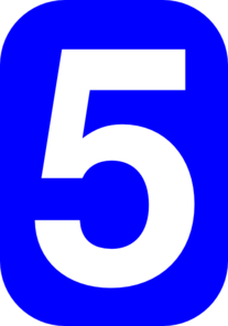 Blue White Zero Font Number Rounded Rectangle Numbers 0 Clip Art