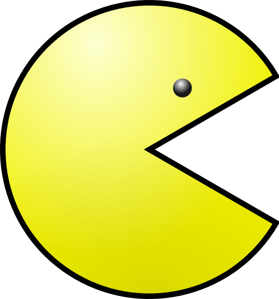 3d Line Drawing Game : Yellow pacman clip art at clker vector