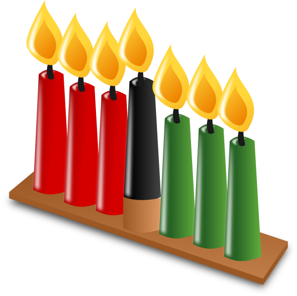 kwanzaa candles clip art at clker com vector clip art online rh clker com Happy Kwanzaa kwanzaa clipart black and white