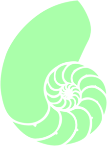 Green Nautilus Shell Clip Art