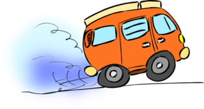 Orange Van Clip Art