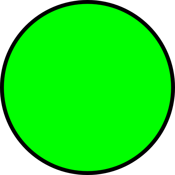 Clipart Green Circle 5 on Circle Fraction