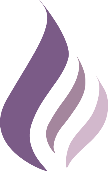 Dk Purple Flame Logo C...