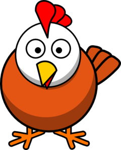 White Head Chicken Clip Art