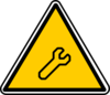 Technical Warning Sign Clip Art