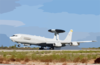 A U.s. Air Force E-3 Sentry Airborne Warning And Control System (awacs) Lands At U.s. Naval Support Activity Souda Bay Clip Art